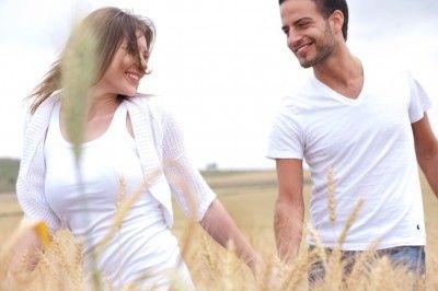 A young couple enjoying