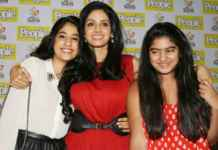 Sridevi with her daughters