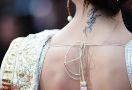 Deepika's tattoo