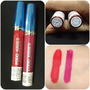 Diana of London 2000 Kisses Lipstick 06 and 31