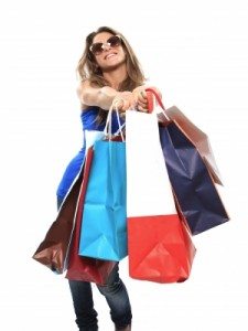 Lady with a shopping bags