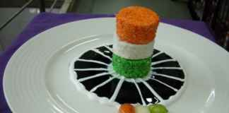 Tri coloured cheese cake