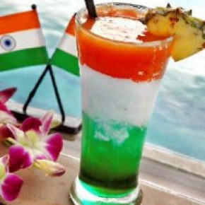 <b>Recipe: Tricolour mocktail with ice-crea...</b>