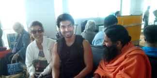 Gurmeet and Debina with Baba Ramdev