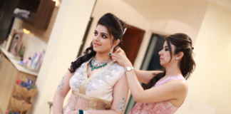 Hair styling by Bollywood beauty n makeup expert Puja Taluja