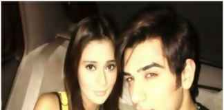 Sara Khan with Paras Chabbra