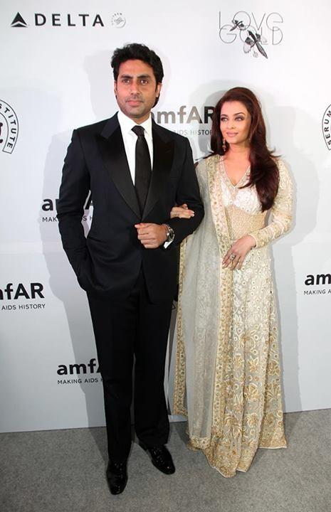 Abhishek and Aishwarya Bachchan at amFAR gala