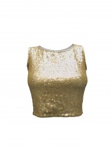 Sequin Drama Crop Top by FabAlley