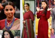 Different looks sported by Vidya Balan
