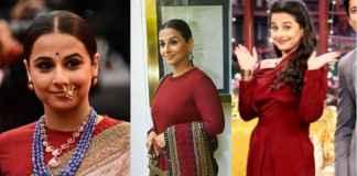 Different looks sported by Vidya Balan