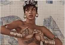 Rihanna photo shoot/ instagram