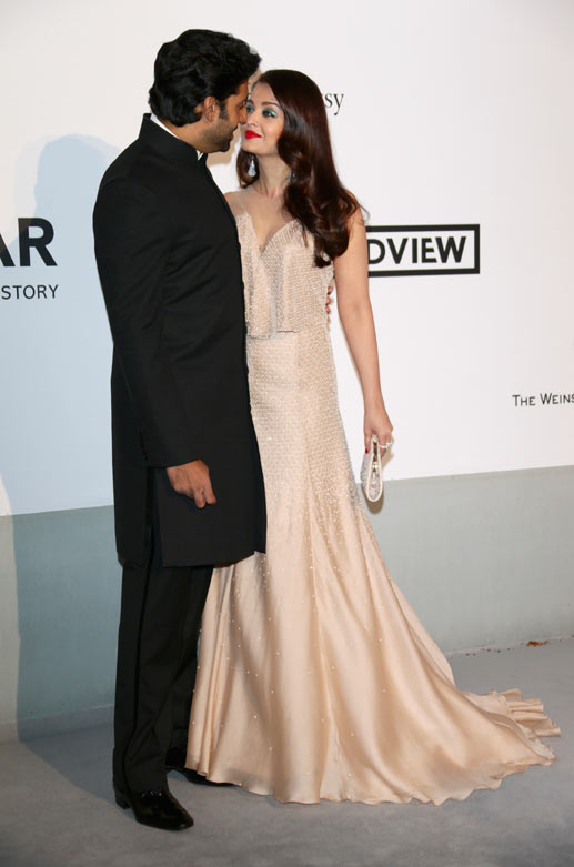 Abhishek and Aishwarya at amfAR gala, Cannes 2014