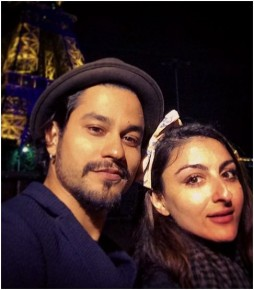 Soha Ali Khan and Kunal Kemmu/twitter