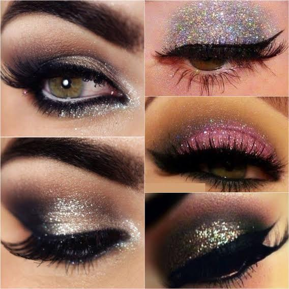 How to apply glitters on eyes
