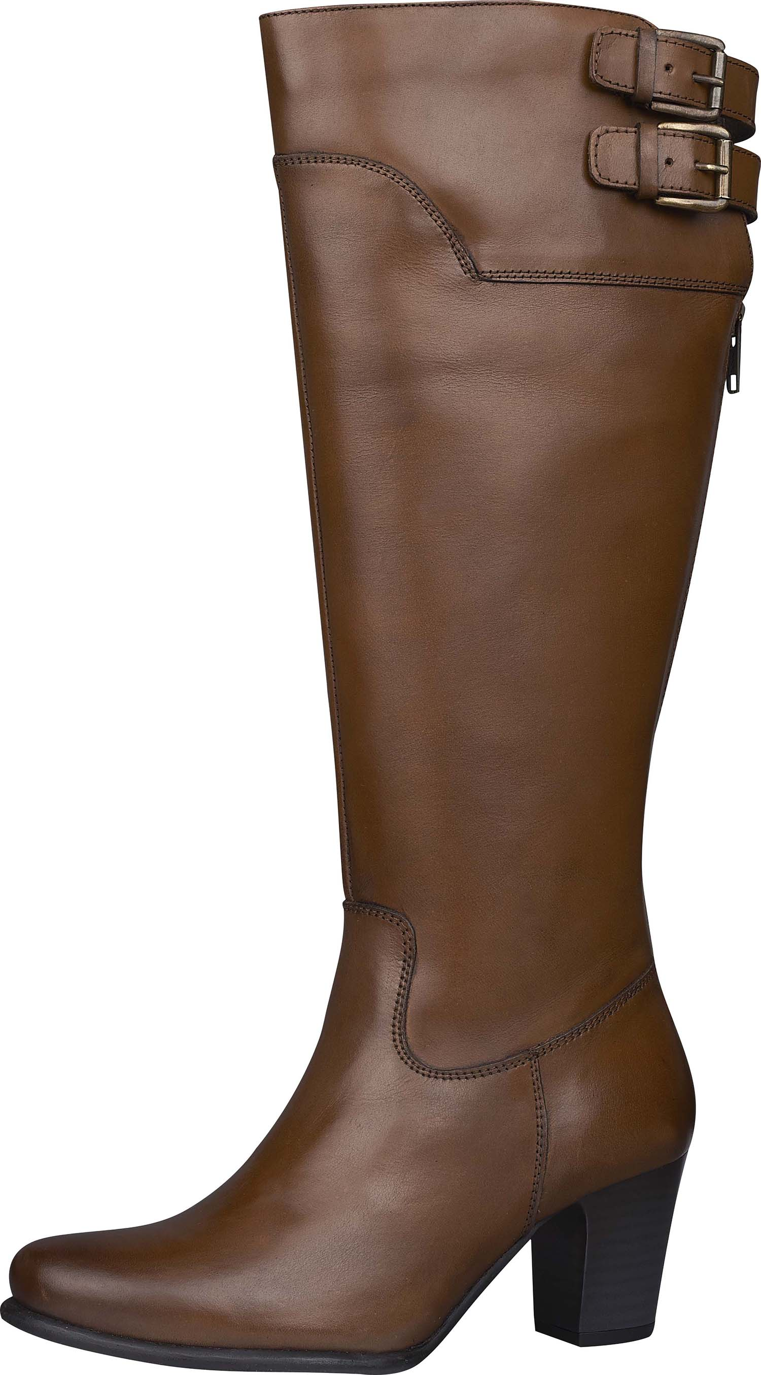 Brown Knee Length Boots by Hush Puppies
