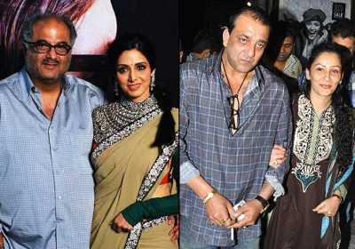 Boney & Sridevi, Sanjay & Manyata