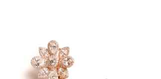 Rose & white gold diamond earrings by Entice