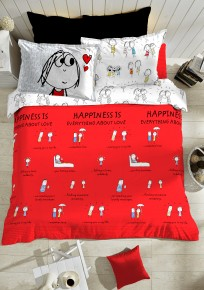 Happiness Is... bedspread by Portico New York