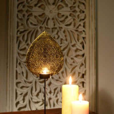 limeroad.com Golden leaf shape candle stand