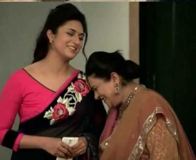 Ishita with her mother-in-law
