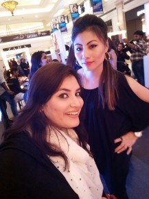 The awesome makeup artists at Colorbar at the DLF Promenade Timelessbeauty makeup festival