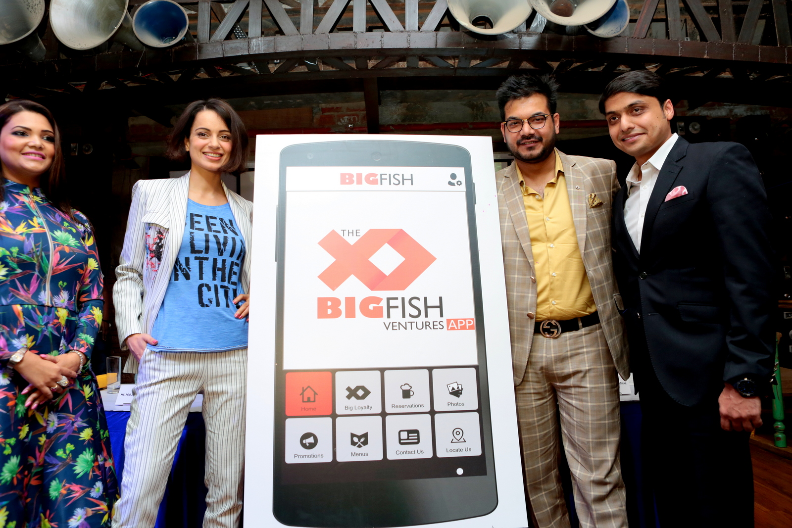 Kangana launches Big Fish app