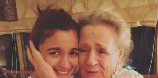 Alia Bhatt with grandmom