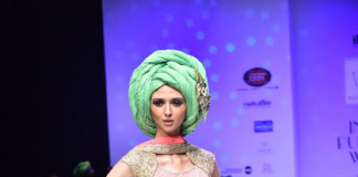 Model showcasing the collection of Designer Varija 2