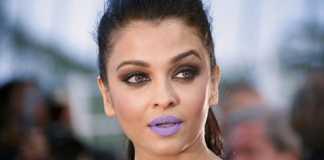 Aishwarya's purple lips