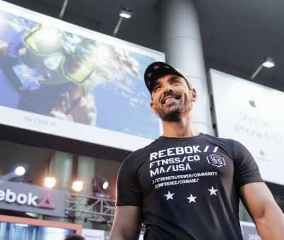 Reebok India Brand Ambassador John Abraham during an exclusive fitness masterclass organized by Reebok India in association with Jabong