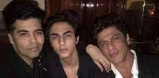 Karan Johar with SRK and Aryan