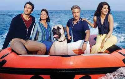 Anil Kapoor with his family in Dil Dhadakne Do