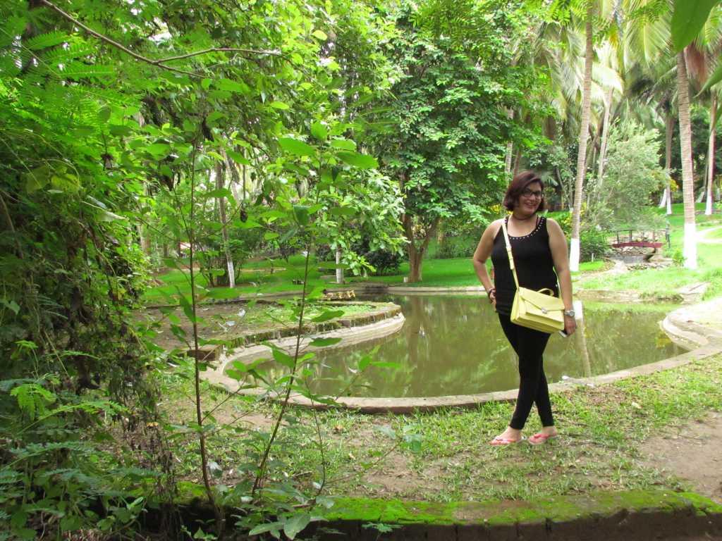 Posing near the pond
