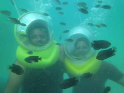 Under water sea walk