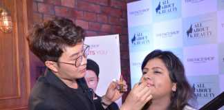 At The Face Shop India event
