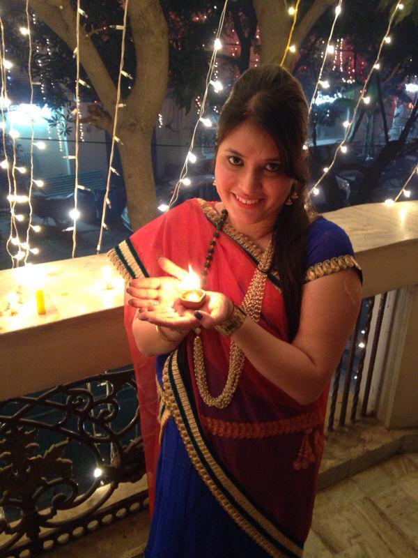 Diwali praying