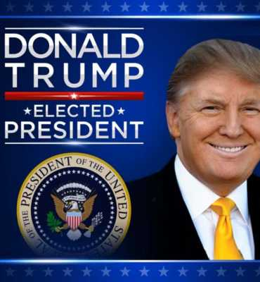 Donald trump elected as the new President of America