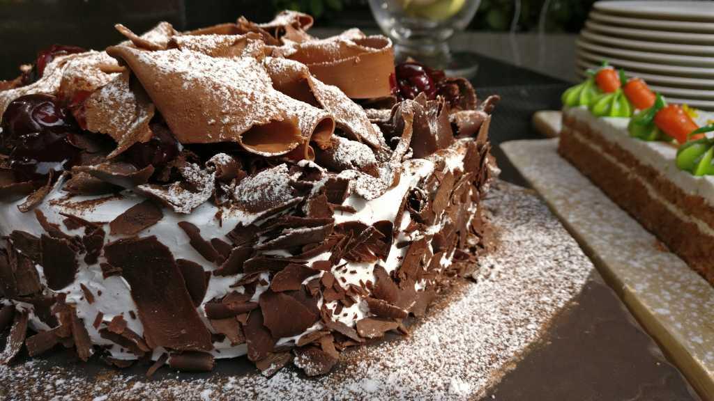 Delectable black forest cake