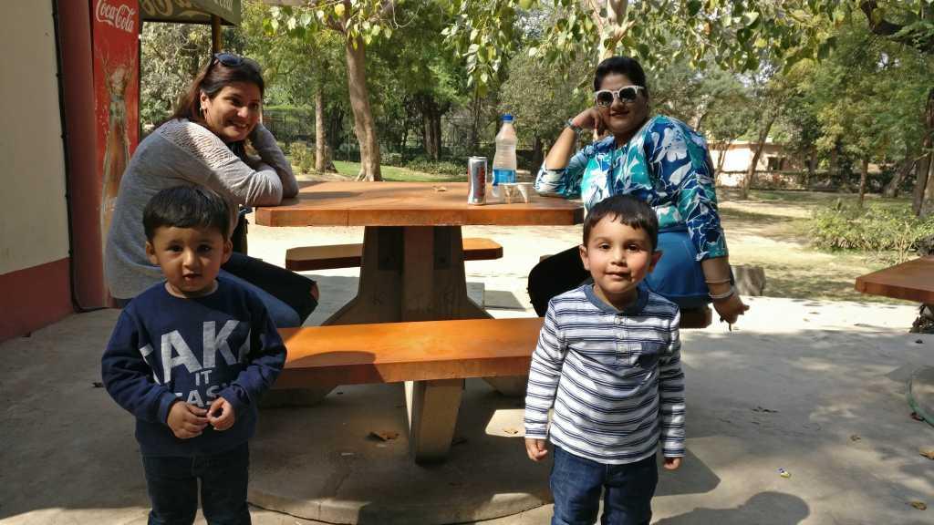 Posing at the Zoo