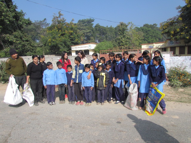 Ayu Tripathi in the cleanliness drive