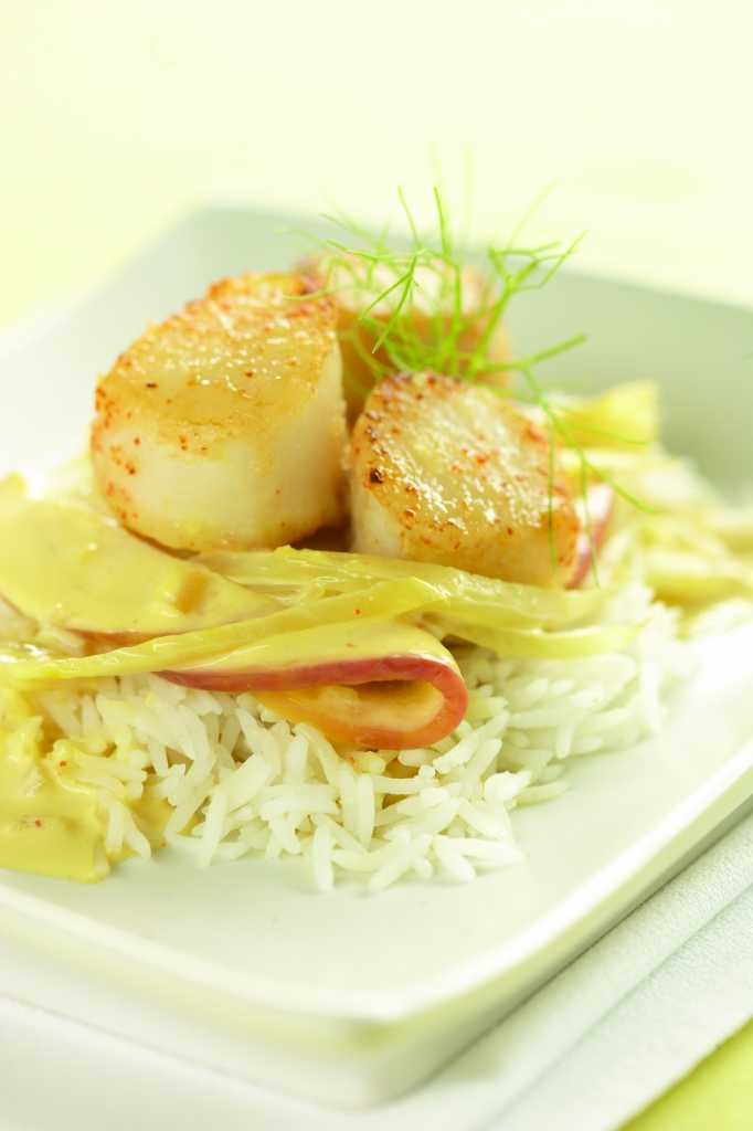 Scallops with Apple and Fennel