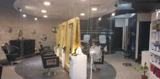 Hair styling area at Sstylez salon Noida