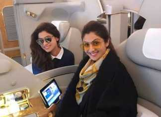 Shilpa Shetty with Shamita Shetty