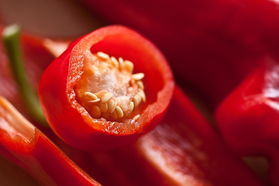 Guinea spice or red hot chili pepper