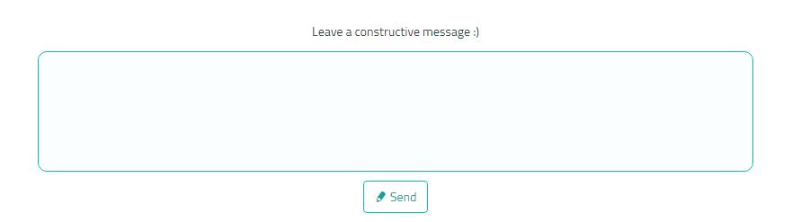 Sarahah Message box