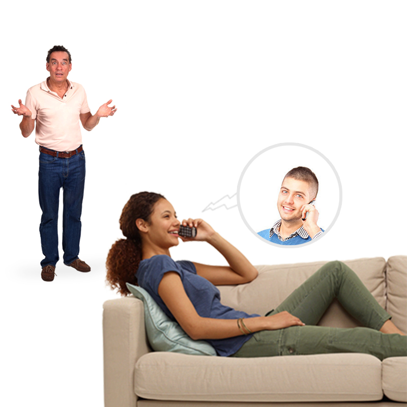 Parents humor when you are caught talking to a guy