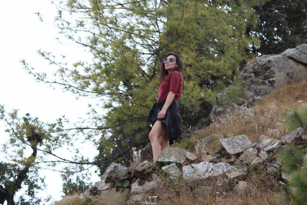 Post trek posing