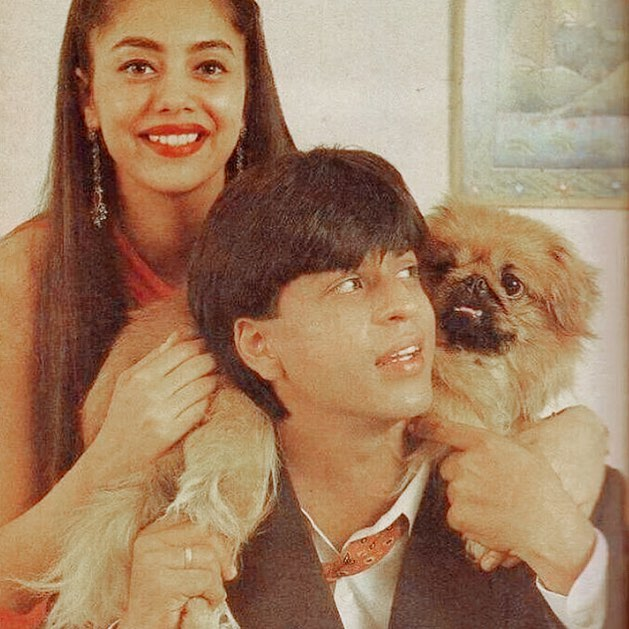 SRK with wife Gauri