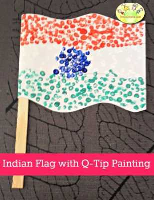 Making of national flag in unique ways