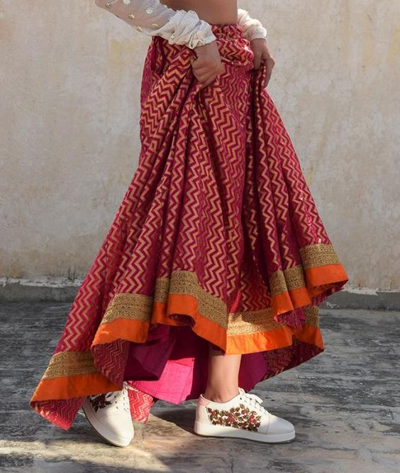 Sneakers with Indian wear